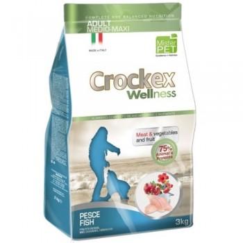 CROCKEX / КРОКЕКС Wellness сухой корм для собак средних и крупных пород 12 кг рыба с рисом MCF3912