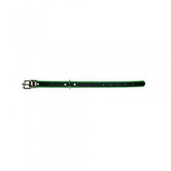 Аркон Ошейник 16 кожа + фетр, размер 22 - 30см х 16мм, черный/зеленый (36567)