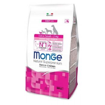 Monge / Монж Dog Extra Small корм для щенков миниатюрных пород с курицей 800г