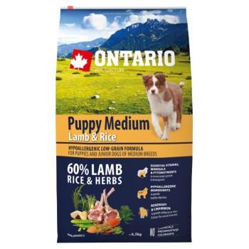 Ontario / Онтарио для щенков с ягненком и рисом 6,5 кг