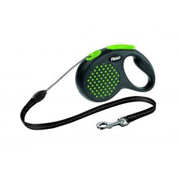 Рулетка Flexi Design M 5м*20кг (трос) зеленый