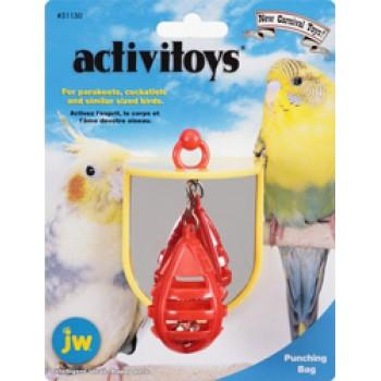 JW Игрушка д/птиц - Боксерская груша с зеркальцем, пластик Punching Bag Toy (31130)