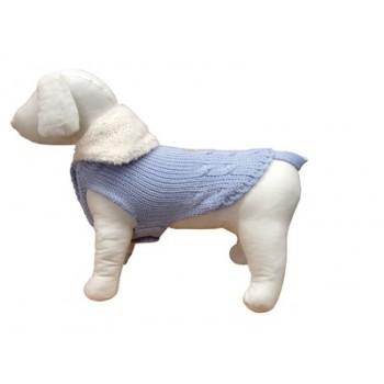 "Ferribiella / Феррибиэлла свитер с тёплым воротом ""Маглия""(голубой) на длину 27 см"