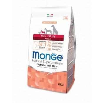 Monge / Монж Dog Speciality Mini корм для взрослых собак мелких пород лосось с рисом 800г