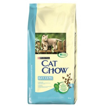 "Cat Chow / Кэт Чоу ""Kitten"" сухой 15 кг для котят Курица"
