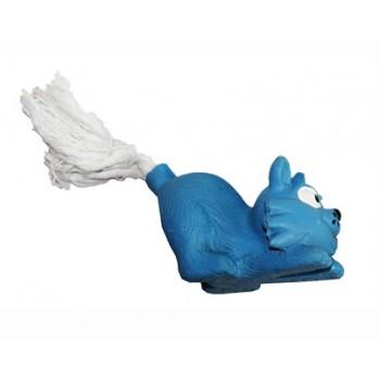 """Ziver / Зивер Игрушка """"Кот с веревочным хвостом голубой"""", 12 см"""