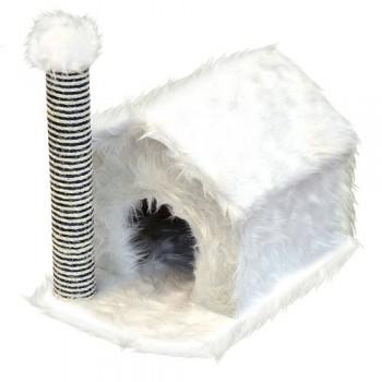 Зооник Дом д/кош., с когтеточкой, мех длинноворс., веревка двухцветная (360*520*500)