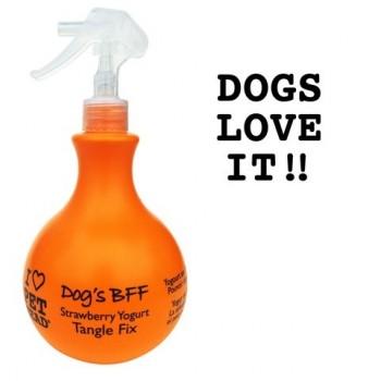 Pet Head Спрей-уход Клубнично-йогуртовый от колтунов и блеска шерсти собак, без сульфатов и парабенов (DOG'S BFF)