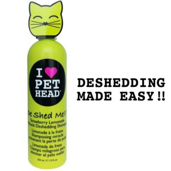 """Pet Head Шампунь клубнично-Лимонадный """"Чудо-линька"""" для линяющих кошек , без сульфатов и парабенов (DE SHED ME for Cats)"""