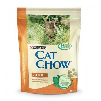 """Cat Chow / Кэт Чоу """"Adult"""" сухой 400 гр для кошек Индейка Курица"""
