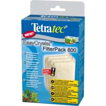 Tetra / Тетра EC 600 фильтрующие картриджи без угля для внутреннего фильтра EasyCrystal 600 3 шт.