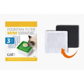 Hagen / Хаген Сменный фильтр (3 шт) для питьевого фонтанчика Catit Sences 2.0 мини (арт. 43735W)