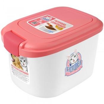 Catidea Контейнер для сухого корма на 3 кг, розовый