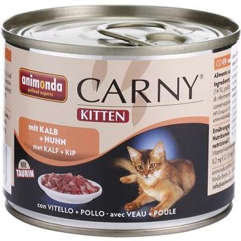 Animonda Carny Kitten конс. 200 гр. с говядиной, телятиной и курицей для котят 83699