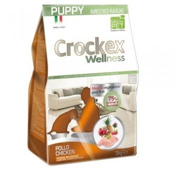 CROCKEX / КРОКЕКС Wellness сухой корм для щенков средних и крупных пород 3 кг курица с рисом MCF3303