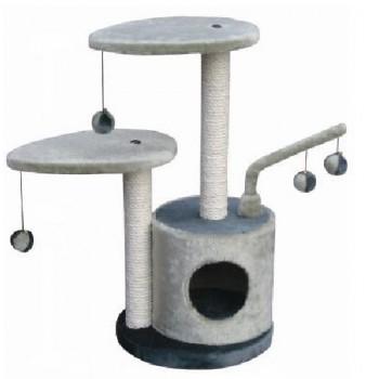 FAUNA INT / Фауна Интернешнл STUDIO Игровая площадка для кошек 2-х уровневая серая 35х35х71см . FICP-121-9737