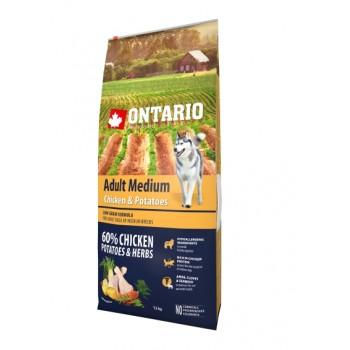 Ontario / Онтарио для собак с курицей и картофелем 12 кг