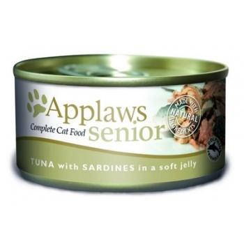 Applaws / Эпплаус Кусочки в желе для Пожилых кошек с Тунцом и Сардинками 0,07 кг