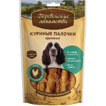 Деревенские лакомства для взр/собак Куриные палочки крученые, 90 гр