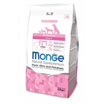 Monge / Монж Dog Speciality корм для собак всех пород свинина с рисом и картофелем 2,5 кг