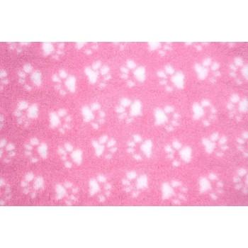 ProFleece коврик меховой 1х1,6м розовый/белый