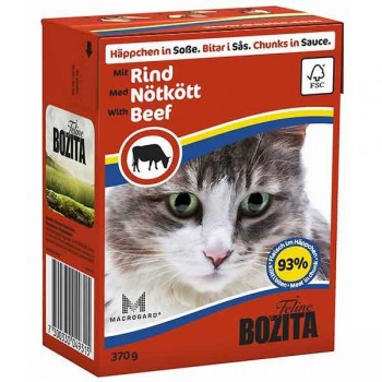 Bozita / Бозита кон.д/кошек Кусочки в соусе Говядина 370гр