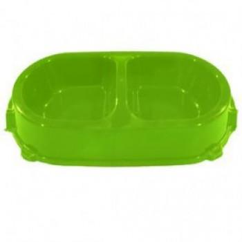 Favorite / Фаворит миска пластиковая двойная нескользящая 0,45л. салатовая