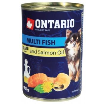 Ontario / Онтарио Консервы для собак малых пород: рыбное ассорти 0,4 кг