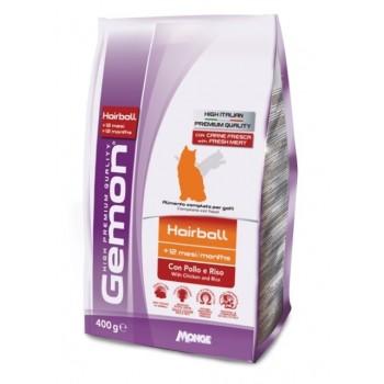 Gemon / Гемон Cat Hairball корм для выведение шерсти для кошек с курицей и рисом 400 г