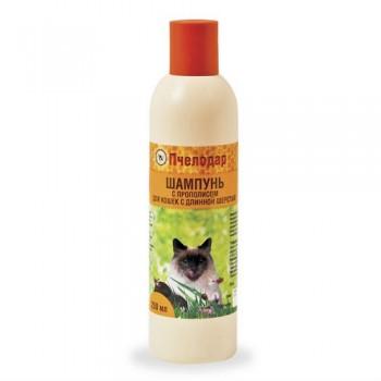 Пчелодар Шампунь с прополисом для короткошерстных кошек 250 мл