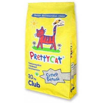 """PrettyCat Наполнитель комкующийся для кошачьих туалетов """"Супер белый"""" с ароматом ванили 20 кг"""