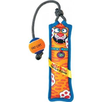 Fat Cat Игрушка д/собак - Перетяжка с мячом, очень прочная, большая, мягкая,, Toss N Pull Dog Toy (630048)