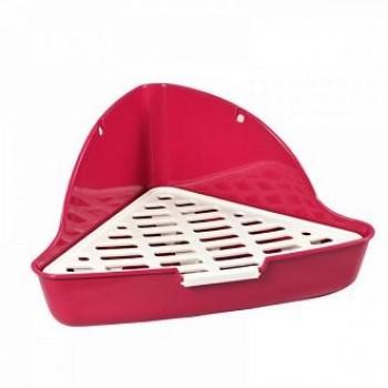 Triol / Триол Туалет P100 угловой для кроликов и хорьков (сетка в комплекте) , 270*270*160мм