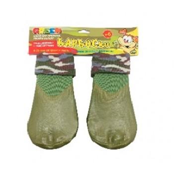 БАРБОСки носки д/собак, высокое латексное покрытие, цвет - зеленый размер - 6