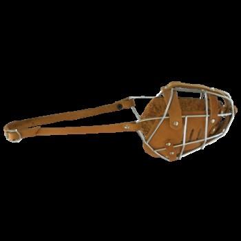 Зооник 1207 Намордник метал.+кожа №2 (Р) (бультерьер)