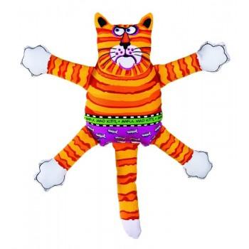 "Kitty City Игрушка ""Кот-забияка"" Мини, оранжевый, (FATCAT Mini terrible nasty scaries)"