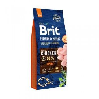 Brit / Брит Premium By Nature Sport д/взрослых собак с высокими затратами энергии 15 кг