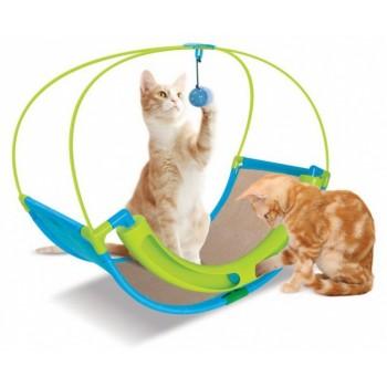"Kitty City Когтеточка для кошек Школа Рока. ""Rocking Roller"" 46*60*33см, сизаль (sp0344)"