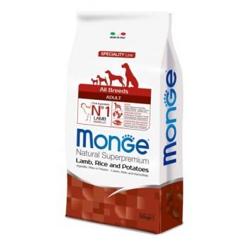 Monge / Монж Dog Speciality корм для собак всех пород ягненок с рисом и картофелем 12 кг