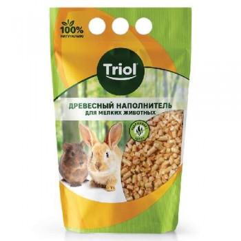 Triol / Триол Наполнитель для мелких животных древесный, 3л