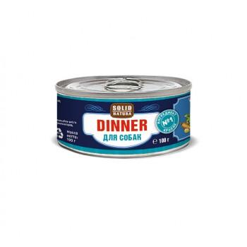Solid Natura Dinner / Солид Натур Диннер Кролик влажный корм для собак жестяная банка 0,1 кг