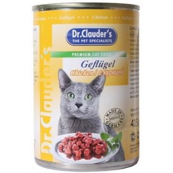 Dr.Clauder's / Др.Клаудер'c кон.д/кошек Кусочки в соусе Курица 415гр