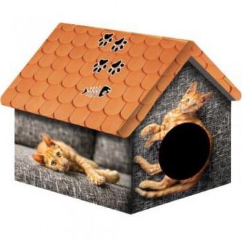 PERSEILINE ДОМ ДИЗАЙН для животных 33*33*40 Рыжий кот (00124/ДМД-1)