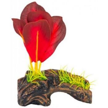 Penn-Plax / Пен-Плакс Распылитель декоративный Растение на бревне красное PS115