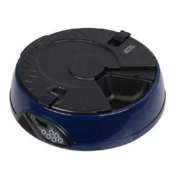 Автокормушка Petwant 6 секц. ж/к дисплей, синяя
