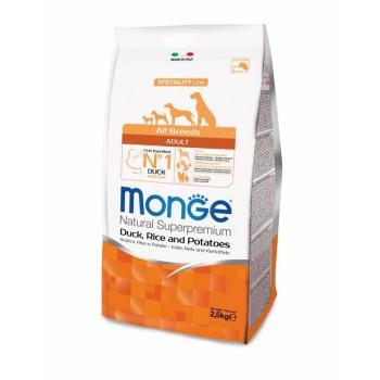 Monge / Монж Dog Speciality корм для собак всех пород утка с рисом и картофелем 2,5 кг