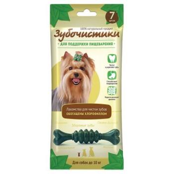 """ЗУБОЧИСТИКИ """"Мятные"""" лакомство с хлорофиллом для собак мелких пород до 10 кг 7шт 60г"""