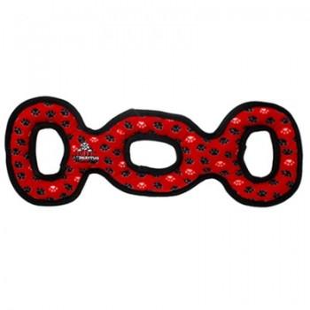 Tuffy / Таффи Супер прочная игрушка для собак Буксир для перетягивания тройной, красный, прочность 9/10
