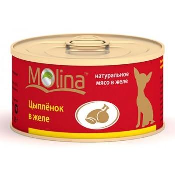 Molina / Молина Консервы д/собак Цыпленок в желе, 85г