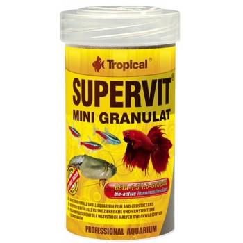 Tropical / Тропикал 604236/85900 корм для малых декоративных рыб и ракообразных (гранулы) Supervit Mini Granulat 100мл/65 гр